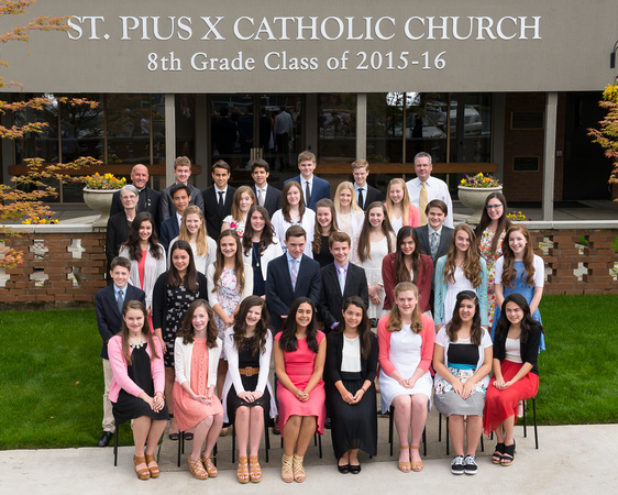 St. Pius 8th Grade Class of 2015-16